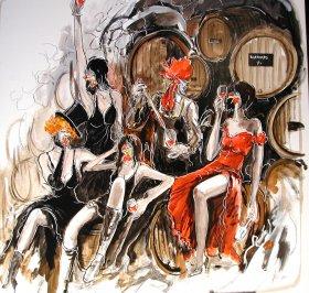 Degustation Damenprogramm Original 1414  Acryl/Oel auf Leinwand  100 x 100 cm