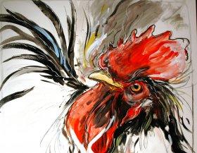 Gallo nero Original 1840  Acryl/Oel auf Leinwand  100 x 120 cm