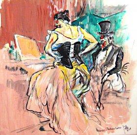 Hommage à Toulouse Lautrec Original 1071  Acryl/Oel  50 x 50 cm