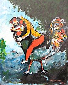 Hommage à Marc Chagall Original 1103  Acryl/Oel auf Leinwand  50 x 40 cm