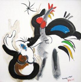 Hommage à Miro Original 873  Acryl auf Leinwand  50 x 50 cm