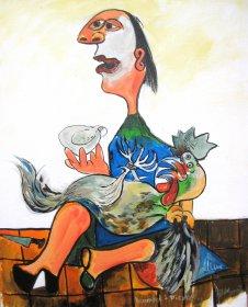 Hommage à Picasso Original 1065  Acryl auf Leinwand  50 x 40 cm