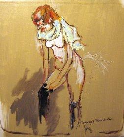 Hommage à Toulouse Lautrec Original 1455  Acryl/Oel  30 x 30cm