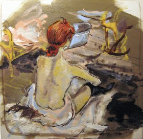 Hommage à Toulouse Lautrec Original 1456  Acryl/Oel  30 x 30 cm